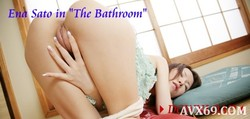 "g-queen VIP No.007 Ena Sato in ""The Bathroom"""